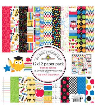 Doodlebug Back To School Paper Pack 12''x12''