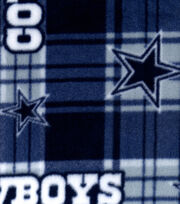 Dallas Cowboys NFL Plaid Fleece Fabric by Fabric Traditions, , hi-res