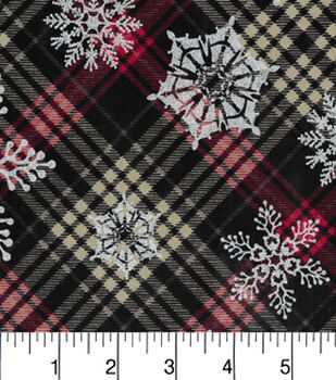 Maker'S Holiday Cotton Fabric-Metallic Flakes On Plaid