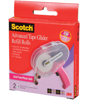 "Scotch Advanced Tape Glider Acid-Free Refills 2/Pkg-.25""X36yd Each, For Use In 085"