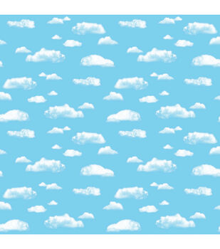 Busy Kids Learning Fadeless Designs Clouds