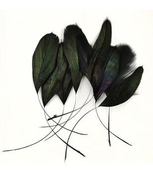 """Natural Couque Stripped 4.5-5.5"""" (11.4-14 cm) Black, 6 pieces"""