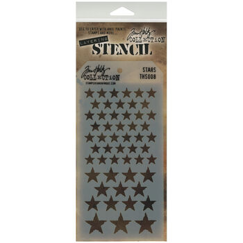 Stampers Anonymous Tim Holtz Layered Stencil Stars