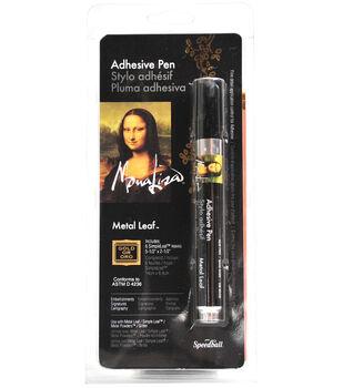 "Mona Lisa Adhesive Pen W/Simple Leaf 5.5""X2.25"" 6 Sheets/Pkg"