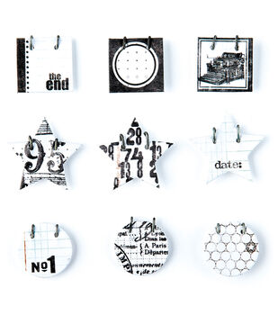 Basic Grey Details Decorative Stickers-White