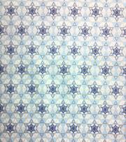 Holiday Inspirations Fabric-Hanukkah Tiny Star Of David Metallic, , hi-res
