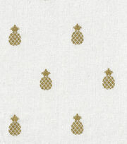 Keepsake Calico™ Cotton Fabric-Pineapple Beige w/Gold Metallic, , hi-res