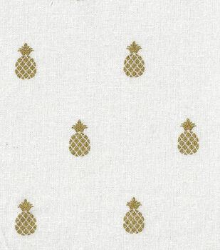 Keepsake Calico™ Cotton Fabric-Pineapple Beige w/Gold Metallic