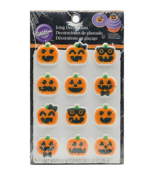 Wilton® Dot Matrix Icing Decorations 12/Pkg-Jack-O-Lantern Dress Up