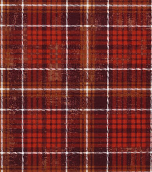 Harvest Cotton Fabric-Harvest Plaid Brown