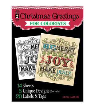 Adult Coloring Book-Hot Off The Press Christmas Greetings