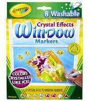 Crayola Crystal Effects Washable Window Markers-8/Pkg, , hi-res