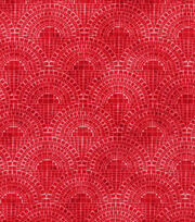 Keepsake Calico™  Cotton Fabric-Half Circle Tiles Red, , hi-res