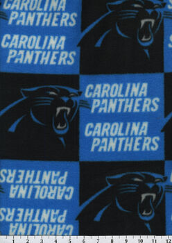 Carolina Panthers NFL Fleece Fabric by Fabric Traditions