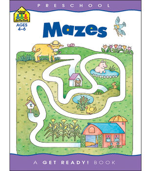 School Zone Preschool Workbooks 32 Pages-Mazes