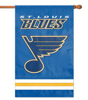 St Louis Blues NHL Applique Banner Flag, , hi-res