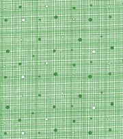 Keepsake Calico™ Cotton Fabric-Dark Green Grid with Dots, , hi-res