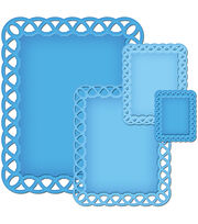 Spellbinders Decorative Elements Nestabilities Dies Lattice Rectangles, , hi-res