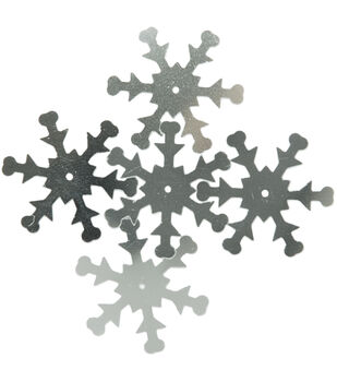 Sequin Snowflake Silver 30pc