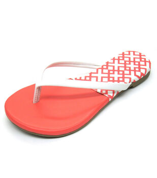 Escape to Paradise Women's Flip Flops-Coral