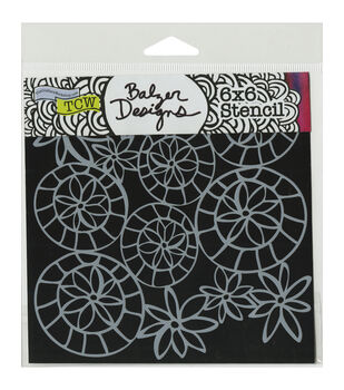 Crafter's Workshop Striped Flower Circle Template 6''x6''