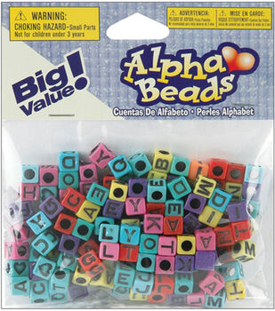 Darice Plastic Beads Alpha Multi