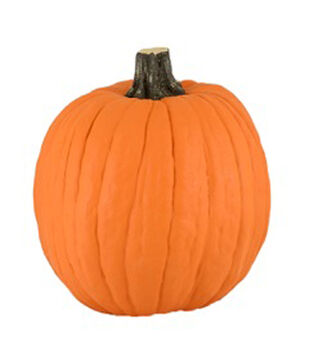 Fun-Kins 12'' Orange Carvable Pumpkin