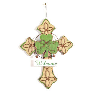 St. Patrick's Day Cross Heart Wall Decor