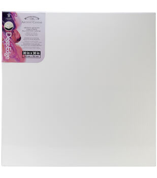 Winsor & Newton Artists' Quality Deep Edge Stretched Canvas 30''x30''- Set of 6
