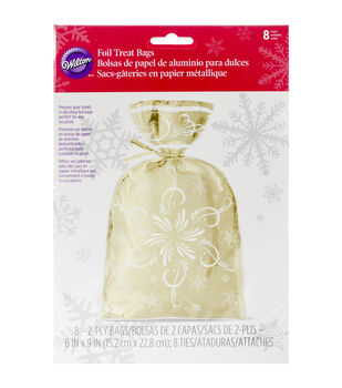 Foil Insulated Bags 8/Pkg-Sparkle & Cheer
