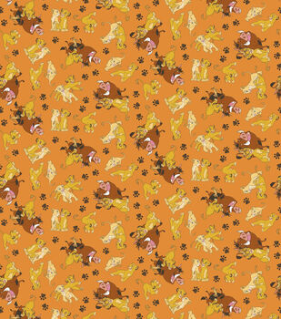 Disney® Lion King Simba And Friends Cotton Fabric