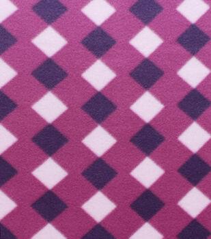 Blizzard Fleece Fabric Purple Diamonds