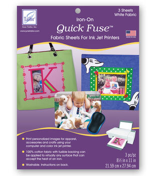 June Tailor Quick Fuse Inkjet Fabric Sheets 3/Pkg