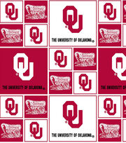 University of Oklahoma NCAA  Cotton Fabric, , hi-res