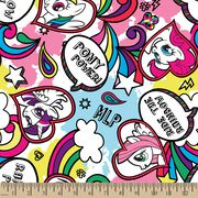 My Little Pony Doodle Fleece Fabric, , hi-res