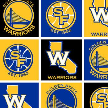 Golden State Warriors NBA Fleece Fabric