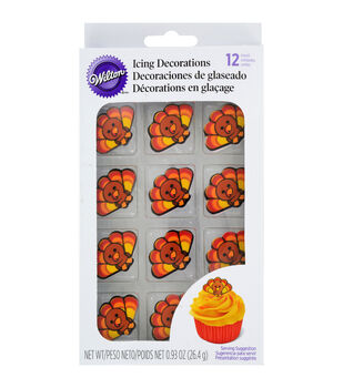 Wilton® Royal Icing Decorations 12/Pkg-Turkey