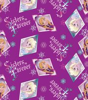 Disney Frozen Sisters Forever Badge Cotton Fabric, , hi-res
