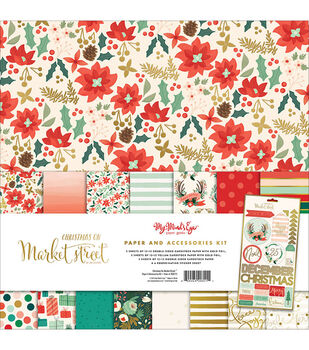 My Mind's Eye™ Christmas On Market St. Paper & Accessories Kit