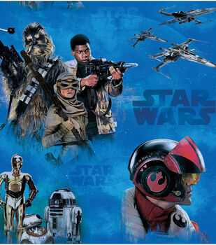 Star Wars VII Heroes Fleece Fabric
