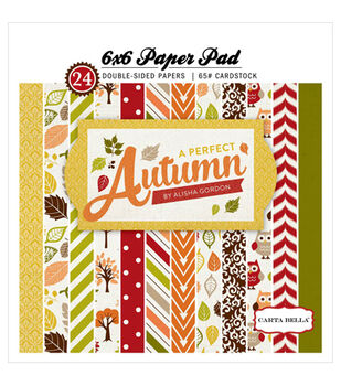 "Carta Bella Paper Pad 6""X6"" 24/Pkg-A Perfect Autumn"