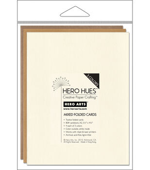 "Hero Arts 5-1/2""x4-1/4"" Folded Cards-12PK/Earth Mix"