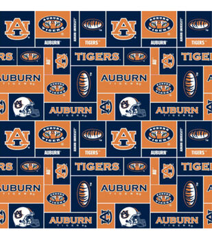 Auburn NCAA  Fleece Fabric