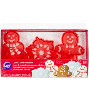Wilton® Stencil Cookie Cutter Set 3/Pkg-Christmas