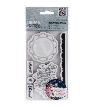 Papermania Simply Floral Flower Doily Tall Urban Stamps