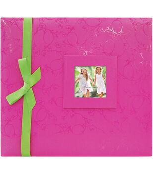 12''x12'' Embossed Postbound Album-Pink
