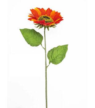 Blooming Autumn 27'' Sunflower Spray-Orange & Rust