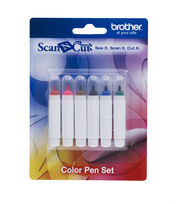 Brother Color Pens- Six Colors 1pk, , hi-res