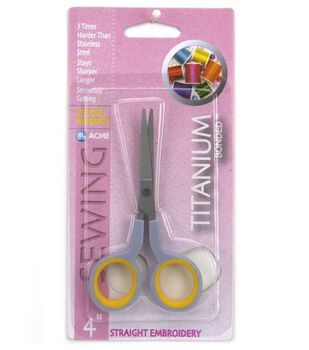 """Acme 4"""" Titanium Straight Embroidery Scissors"""