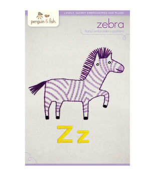 Penguin & Fish Embroidery Patterns-Zebra